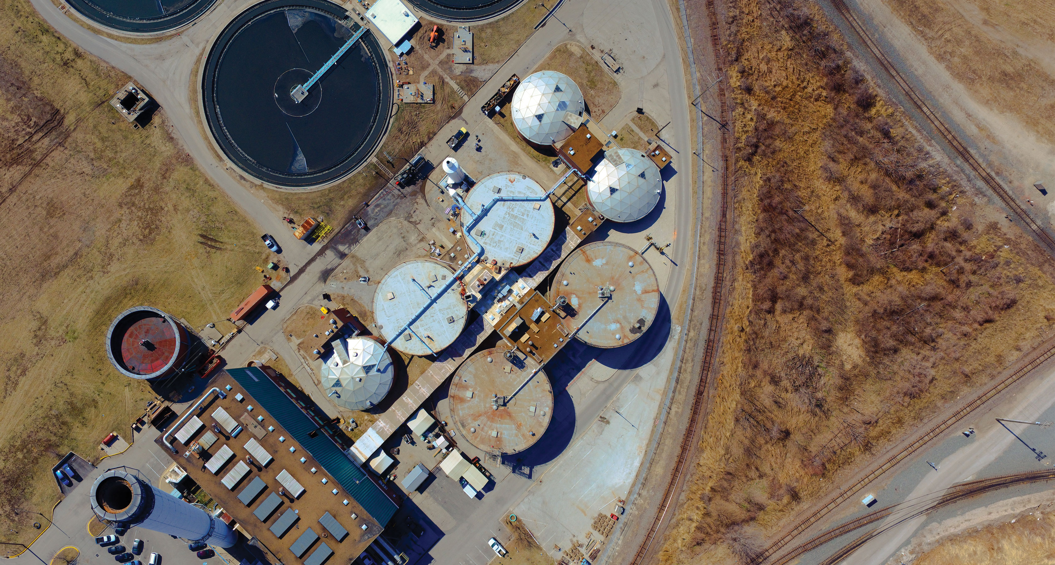 Aerial Blue River Treatment Plant image